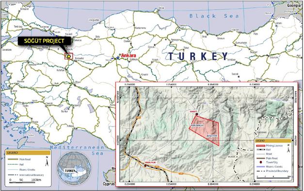 Söğüt Projesi Lokasyon Haritası
